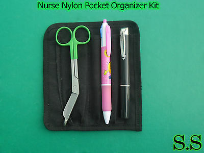 Nurse Nylon Pocket Organizer Kit - Green Color Royal