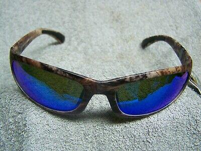 CALCUTTA STEELHEAD TRUE TIMBER CAMO FRAME BLUE MIRROR POLARIZED LENS SUNGLASSES (Camo Calcutta Sunglasses)