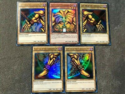 Yugioh! Exodia The Forbidden One Full Set Ultra Rare YGLD NM!