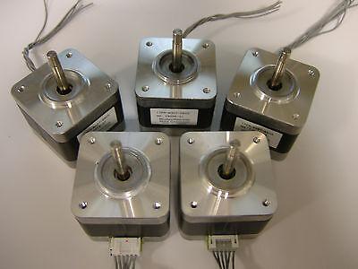 5 X Nema 17 Stepper Motors Minebea Robot Reprap Makerbot Prusa 3d Printer 05vs