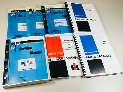 International 674 Diesel Tractor Service Parts Operators Manual Engine Chassis