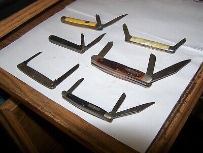 VINTAGE POCKET KNIFE LOT 6 NICE KNIVES CAMCO IMPERIAL KABAR CRAFTSMAN SHAPLEIGH