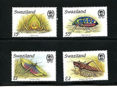 Swaziland #531-534 (SW654) Complete 1988 Insects, MNH, FVF