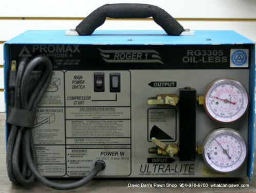 Promax Roger 1 RG3305 Refrigerant Recovery Unit