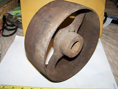 Cast Iron Belt Pulley Hit Miss Gas Engine Motor Steam Magneto Pump 1 516 Bore