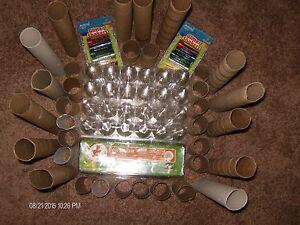 8 clear plastic tri fold egg carton 20 toilet 14 paper for Plastic egg carton crafts