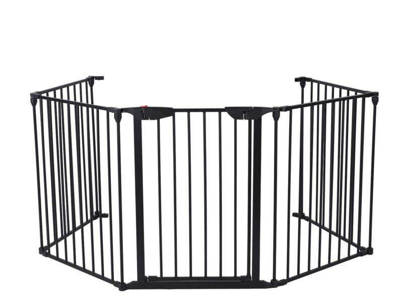 Fireplace Fence Baby Safety Fence Hearth Gate Dog BBQ Metal Fire Gate Protect