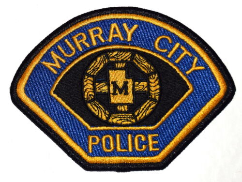 MURRAY CITY UTAH UT Police Sheriff Patch CITY SEAL LOGO STATE SHAPE OUTLINE ~