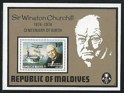 1974 Maldive Islands Scott #532 - Churchill Centennial Souvenir Sheet - MNH