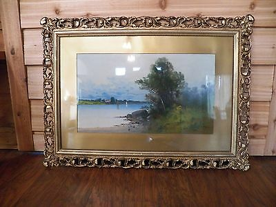 Huge Clarence Braley Nautical Pastel Painting