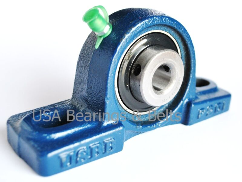 "1/2"" Pillow Block Bearing,UCP201-8 Solid Foot P201 Unit Qty 2"