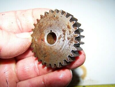 Old 1hp Ihc Famous Titan Hit Miss Gas Engine Magneto Gear Steam Ignitor G642 Wow
