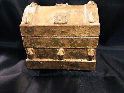Gold Paper Mache Treasure Chest Trinket Box Mache Treasure Chest Boxes