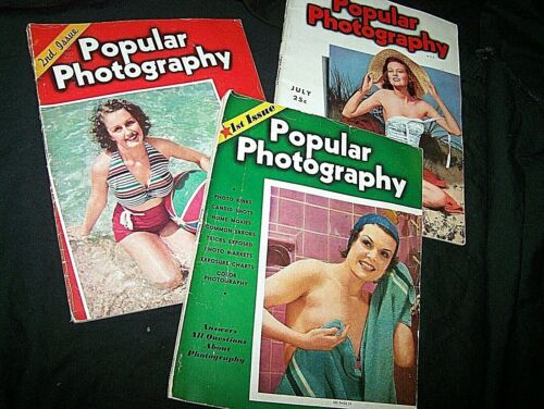 POPULAR PHOTOGRAPHY MAGAZINE #1, 2, 3~1937, MAY, JUNE, JULY~CANDID, NUDE, STUDIO