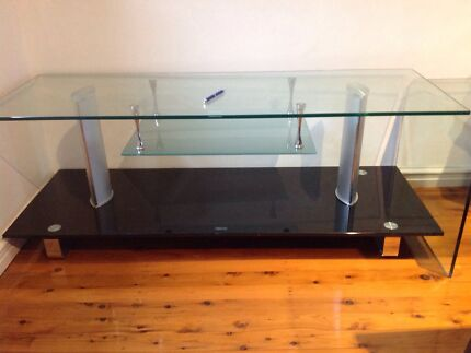 Glass TV unit - very good condition! Mount Lewis Bankstown Area Preview