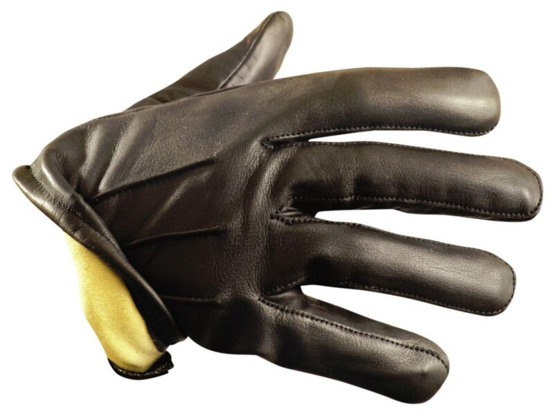 Kevlar Lined Leather Duty Gloves - Cut Resistant Made with Kevlar Liner Size XL