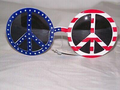 American Flag Summer Fun Peace Sign  Patriotic Sunglasses (American Flag Shades)