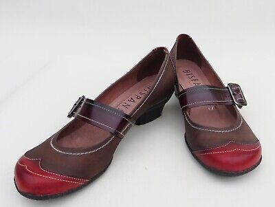 Hispanitas leather buckle front low heel Mary Janes,size EUR 37/UK4