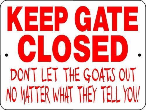 """0827 Goats 9""""x12"""" Aluminum Sign"""