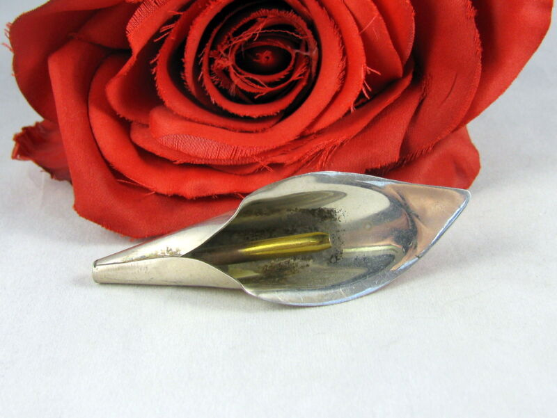 Sterling Silver Mexico Elegant Flower 9g Pin Brooch FERAL CAT RESCUE