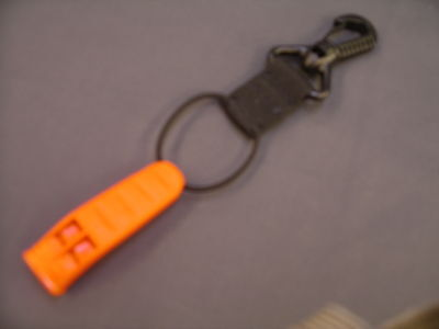 Very Loud Emergency Distress Survival Signal Warning Whistle/Swivel Hook