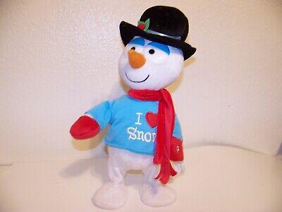 Gemmy Side Stepper Frosty the Snowman Singing Dancing Plush 14 inch