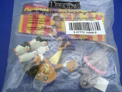 Circus Cakes (NIP DecoPac MADAGASCAR 3 - RING CIRCUS Birthday CAKE TOPPER SET Sealed New!)