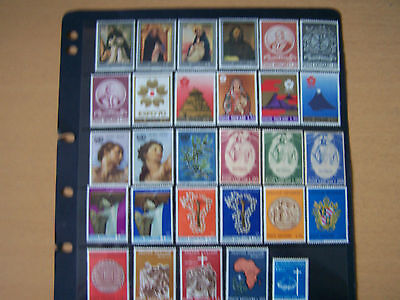 VATICAN CITY,SELECTION OF 29 DIFFERENT U/MINT,MAINLY SETS,EXCELLENT.