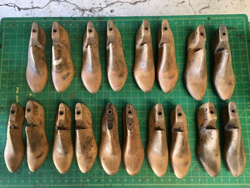 Lot of Vintage Wooden Shoe Lasts - 8 Pairs Women