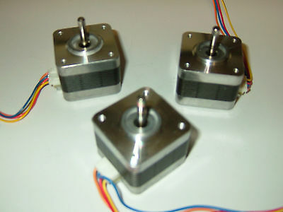 3 X Stepper Motors Nema 17 - Cnc Router Mill Robot Reprap Makerbot Prusa P2vs-3