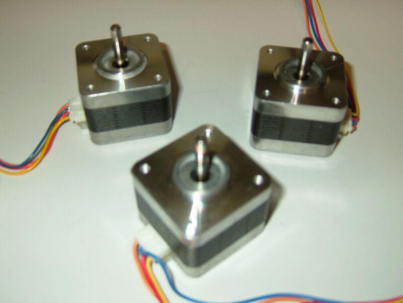 3 x Stepper motors NEMA 17 - CNC ROUTER MILL ROBOT REPRAP MAKERBOT Prusa p2vs-3