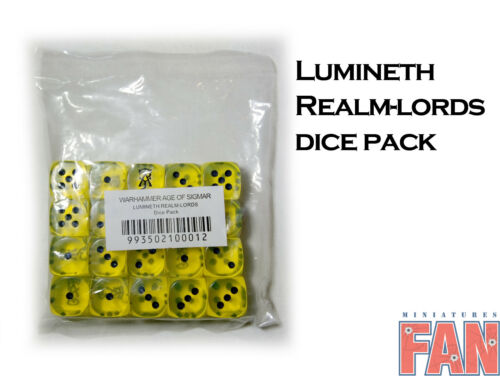 Warhammer AoS Lumineth Realm-Lords Dice Set of 20 (Limited, OOP, New Unopened)