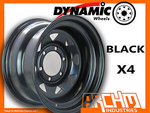SET-OF-4-BLACK-4X4-DYNAMIC-SUNRAYSIA-WHEELS-15X8-6-139-7-OR-5-5-4WD-RIM-HILUX