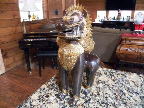 "Asian 13"" Bronze Guardian Lion"