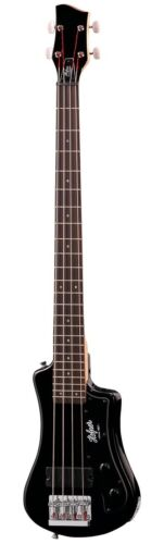 Hofner HCT Shorty Electric Travel Bass Guitar - Black - HCTSHBBK