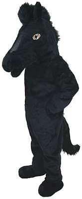 Mustang Mascot (Black Mustang Horse Professional Quality Lightweight Mascot Costume Adult)
