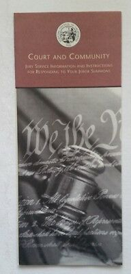 Court And Community Jury Service Brochure For California 2000s Pamphlet