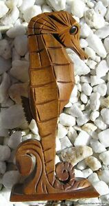 Vintage-Oya-Hawaii-Milo-Wood-Hand-Carved-Seahorse-Perfume-Bottle-Sculpture
