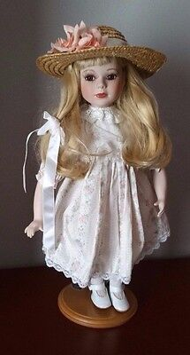 The Wimbeldon Collection Porcelain Doll (Blonde Hair & Brown Eyes)