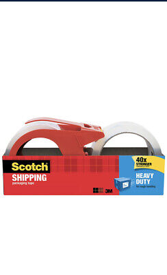 Scotch Heavy Duty Packaging Tape Wit Dispenser Clear 1.88 X 38.2 Yds 1 Total