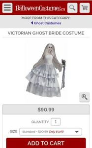 Adult Victorian Ghost Bride & Groom Couples Costumes