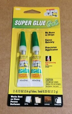 The Original Super Glue Gel 2-0.12oz As Shown In Pictures New In Stock