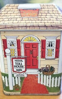 Vintage MiniHouse shaped Nestle Toll House Tin made in England