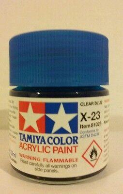 Tamiya acrylic paint X-23  Clear blue 23ml