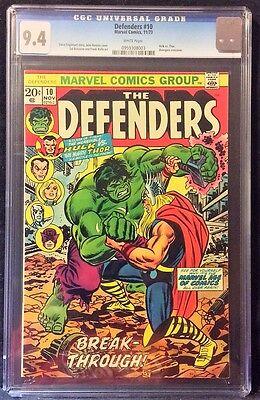 Defenders (1972 1st Series) #10 CGC 9.4