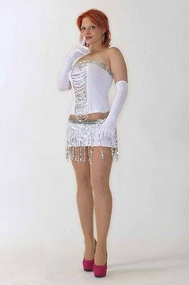 GOGO Tänzerin Tabledance Karneval Fasching  Fantasy Damen Kostüm sexy S  - Gogo Tänzerin Kostüm