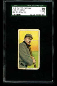 T206 Sweet Caporal TY COBB Bat on Shoulder HOF Detroit SGC 1