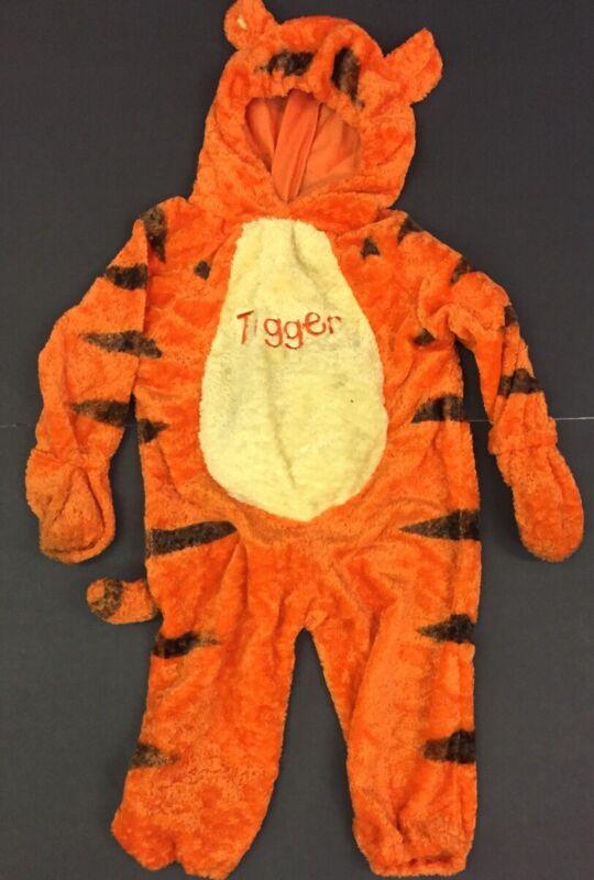 Disney Store Winnie Pooh Tigger Plush Tiger Halloween Costume Jumpsuit XXS 2-4