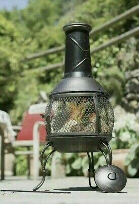 🔥La Hacienda Tuscan Steel Chiminea🔥,Fire Pit, Log Burner, Patio Heater. Free🚚