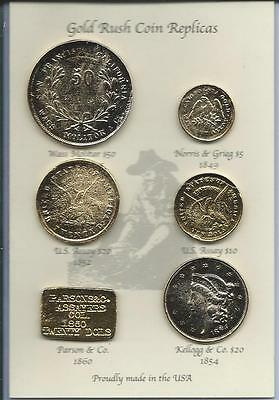 Set Of 6 California Gold Rush Replicas   Can Be Used As An Educational Resource